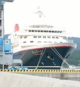にっぽん丸 大船渡港 写真